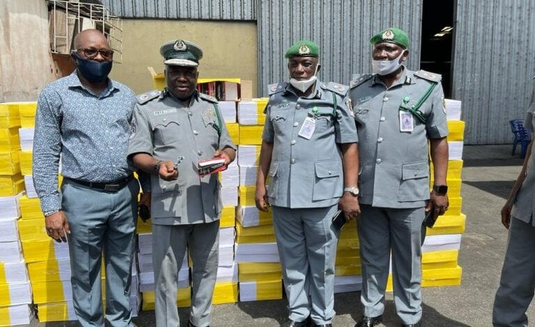 1,387 cartons of Tramadol concealed ceramic tiles intercepted in Rivers