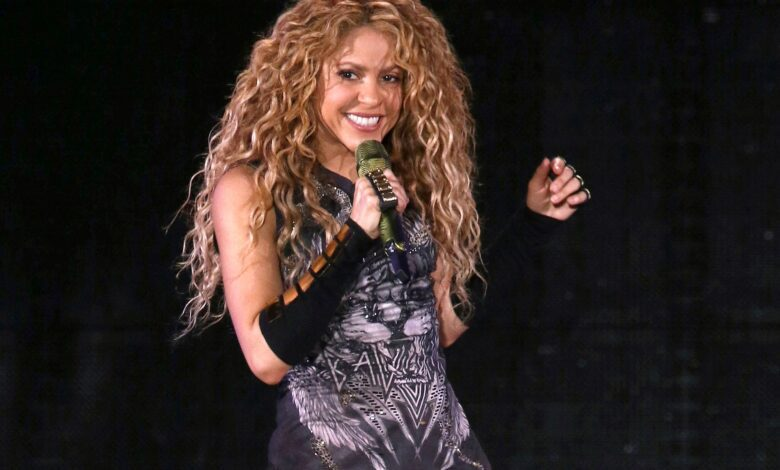 Shakira singing a song