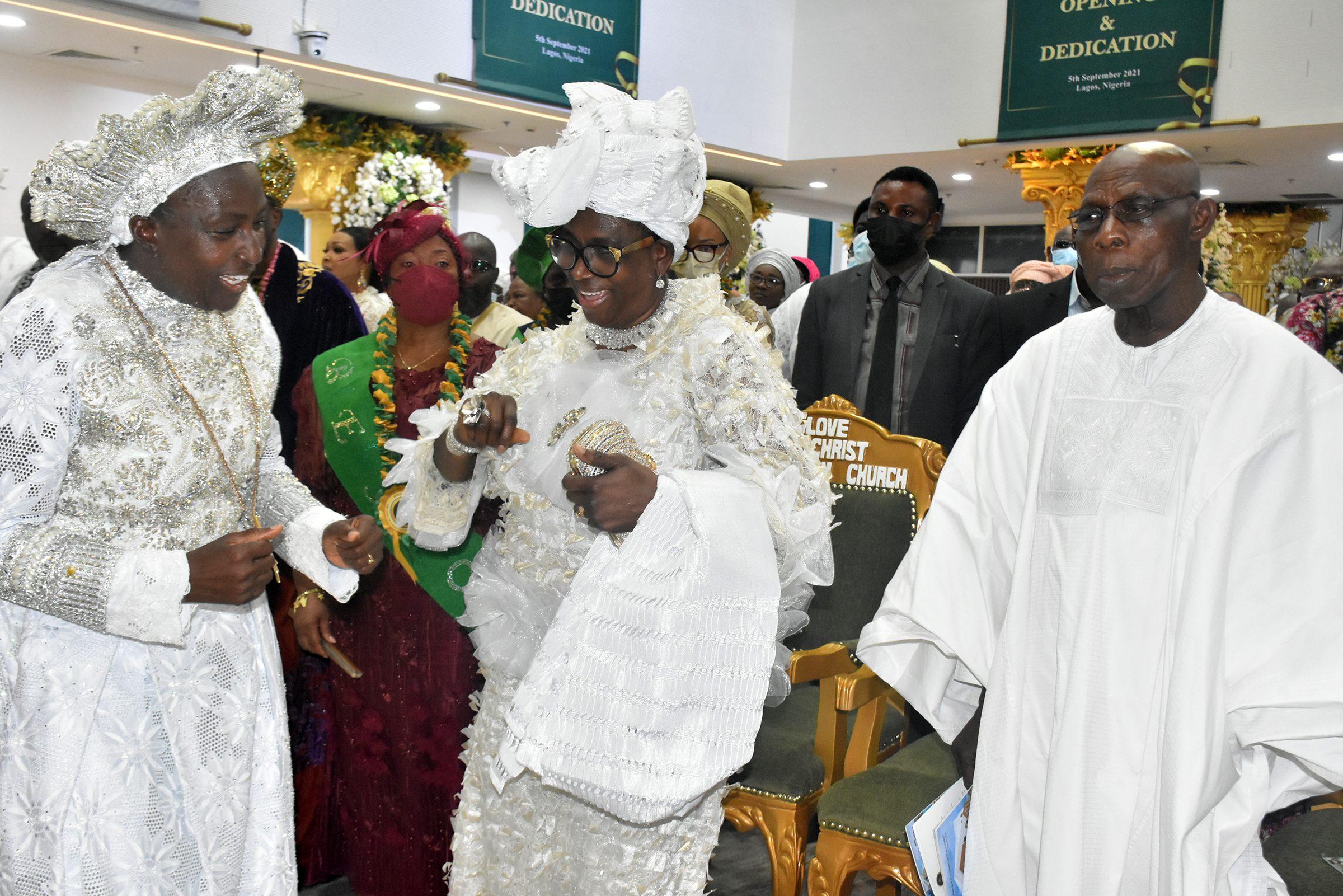 Obasanjo, Adeboye, Ooni at the dedication of Love of Christ Generation  Church Cathedra